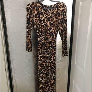 Leopard print Thalia Sodi Maxi dress.